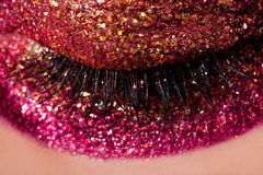 Sparkly Augenschminke lizenzfreies stockbild