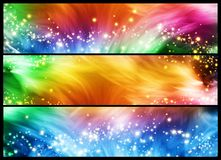 Sparkly banners Stock Image