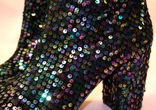 Sparkly Boots Stock Photography