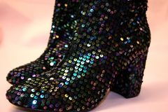 Sparkly Boots Stock Photo
