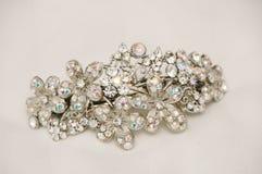 Sparkly Bridal Hairclip Стоковое Изображение RF