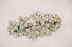 Sparkly Bridal Hairclip Royalty Free Stock Image