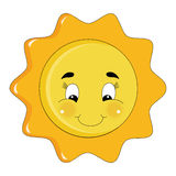 Sparkly bright sun. An illustration featuring a happy bright sun vector illustration