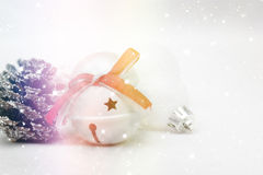 Sparkly Christmas background with decorations Stock Image