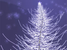 Sparkly christmas tree illustration Royalty Free Stock Photography