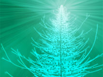 Sparkly christmas tree illustration Stock Images
