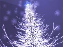 Sparkly christmas tree illustration Royalty Free Stock Image