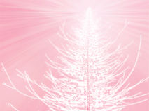 Sparkly christmas tree illustration Royalty Free Stock Photo