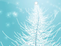 Sparkly christmas tree illustration Royalty Free Stock Photos