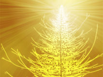 Sparkly christmas tree illustration Stock Image