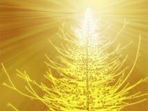 Sparkly christmas tree illustration. Sparkly christmas tree, abstract graphic design illlustration stock illustration
