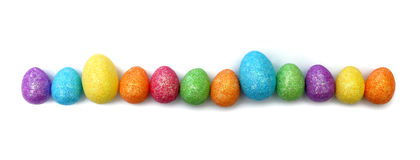 Sparkly Easter Eggs Royalty Free Stock Photo