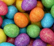 Sparkly Easter Eggs Stock Photos