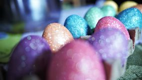 Sparkly Easter eggs! Royalty Free Stock Images