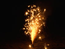 Sparkly Fireworks Stock Images