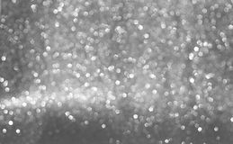 Sparkly glitter, silver background bokeh effect. Abstract and colour background, with silver, glitter and bokeh effect. Luxury color. Little bokeh royalty free stock photo
