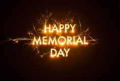Sparkly HAPPY MEMORIAL DAY title Royalty Free Stock Photos