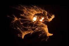 Sparkly het Amerikaanse voetbalster lopen Stock Foto