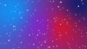 Sparkly light particles moving across a red purple blue gradient background. Sparkly white light particles moving across a red purple blue gradient background stock video footage