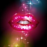 Sparkly Lippen Lizenzfreie Stockfotografie