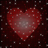 Sparkly love background Royalty Free Stock Images