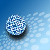 A sparkly mirrorball illustration. A sparkly blue mirrorball illustration in blue Royalty Free Stock Photos