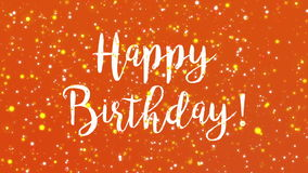 Red happy birthday greeting card video stock footage video of sparkly orange happy birthday greeting card video royalty free illustration m4hsunfo