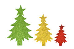 Sparkly paper trees Royalty Free Stock Image