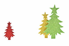Sparkly paper trees Royalty Free Stock Photos