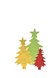 Sparkly paper trees Stock Images