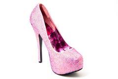 Sparkly Pink stiletto shoe Stock Photo