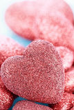 Sparkly Red Heart Background Stock Image
