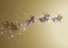 Sparkly santa sleigh Royalty Free Stock Photos