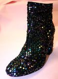 Sparkly Boots Royalty Free Stock Photos