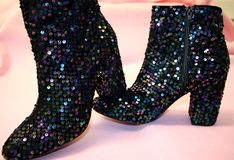 Sparkly Boots Royalty Free Stock Image