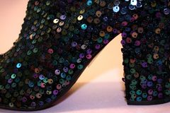 Sparkly Boots Stock Images