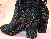 Sparkly Boots Royalty Free Stock Photo