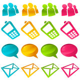 Sparkly Social Media Icons Stock Images