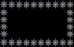 Sparkly star border on black. A sparkly christmas star ornaments on black background, good for frames, borders or greeting card Royalty Free Stock Photography