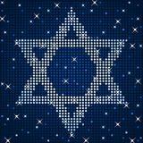 Sparkly star of david Royalty Free Stock Photography