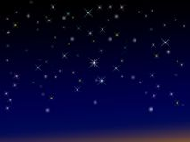 Sparkly starry background. For designs Stock Photos