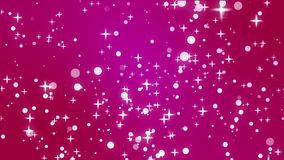 Sparkly stars on pink background stock footage