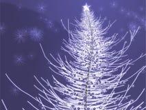 Sparkly Weihnachtsbaumabbildung stock abbildung