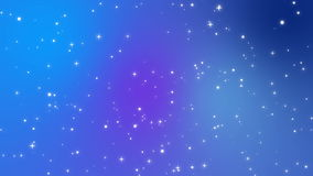 Sparkly white light particles moving across a blue purple background. Sparkly white light particles moving across a purple blue gradient background imitating stock video