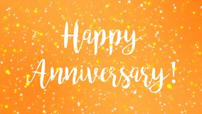 Sparkly yellow Happy Anniversary greeting card video