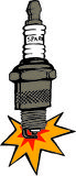 Sparkplug. Illustration of a sparkplug stock illustration