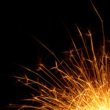 Sparks. In the black.  of Bengal lights for holiday Stock Images
