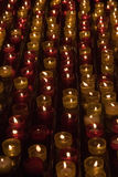 Sparks. Candles in memory about deceased people in a cathedral of Marseilles Stock Photo