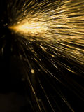 Sparks. Grinder sparks flying with a black background Royalty Free Stock Photos