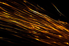 sparks abstract background Stock Photography